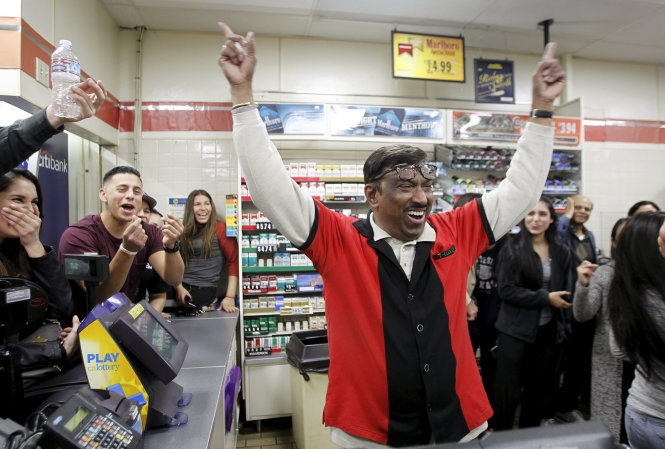 The 7-11 store where a winning Powerball ticket was sold is shown in Chino Hills, California