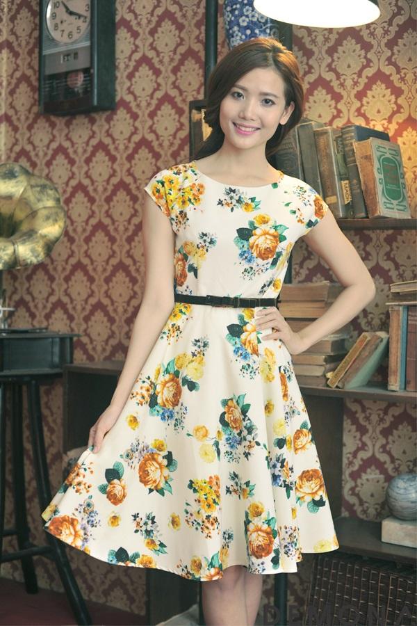 váy công sở họa tiết