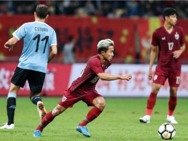 Thái Lan thua đậm Urugoay trong trận chung kết China Cup