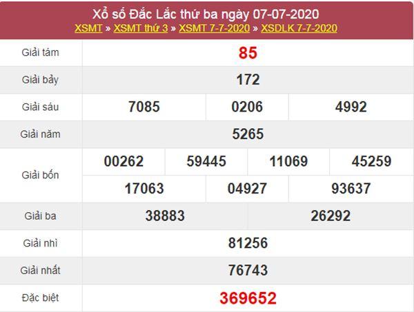 Dự đoán XSDLK 14/7/2020 chốt KQXS ĐăkLắc thứ 3